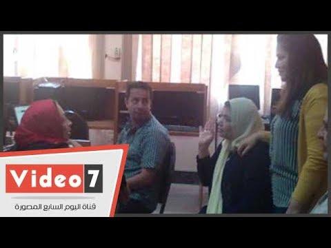 250 طالبا يتقدمون لتسجيل رغباتهم آليا بجامعة بنى سويف