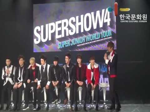 Conférence de presse Super Show 4 Paris Super Junior