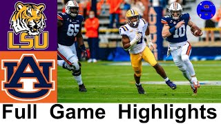 LSU vs Auburn Highlights | College Football Week 9 | 2020 College Football Highlights