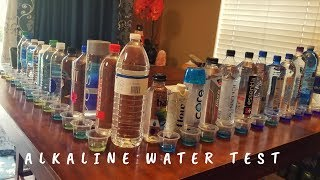 Alkaline Water Test | PH Water Test - 25 brands of water