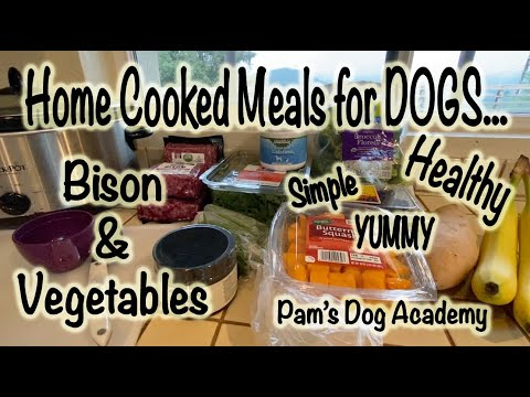 Home-Cooked Meals for Dogs: Bison and Vegetables