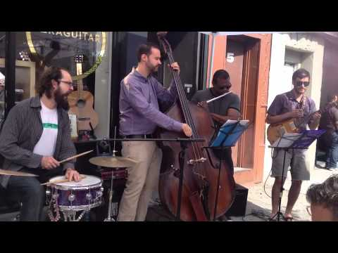 An excerpt of my quartet performing one of my songs (Wood Slave) during Make Music New York, June 21st 2014.