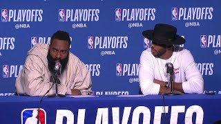 James Harden & Chris Paul Postgame Interview - Game 2 | Rockets vs Warriors | 2019 NBA Playoffs