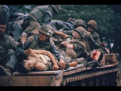 """On Jan. 26, 2018, the Newseum will open its latest exhibit, """"The Marines and Tet: The Battle That Changed the Vietnam War."""" The exhibit will feature the work of John Olson, a young photographer with Stars and Stripes who spent three days with the Marines at the 1968 Battle of Huêˊ(pronounced hway), the bloodiest single battle of the Vietnam War. Olson's image of a tank carrying wounded Marines became one of the most iconic images of the war."""