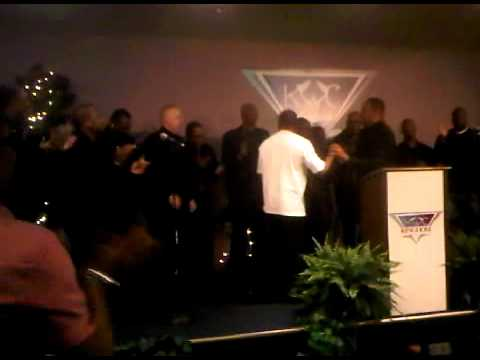 Kingdom Worship Center's Men Mass Choir First Performance 2-13-11