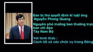 [HOT] Nguyễn Phong Quang bị cách chức Phó Trưởng Ban Thường trực Ban chỉ đạo Tây Nam Bộ