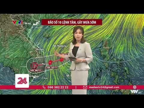 Bão số 10 sẽ đổ bộ vào tĩnh nào của miền Trung? | VTV24