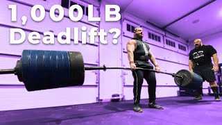 1,000LB DEADLIFT? | ROB KEARNEY