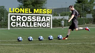 LIONEL MESSI CROSSBAR CHALLENGE | testing Messi's accuracy