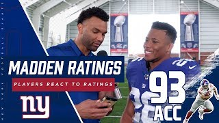 Giants Players React to Madden 20 Ratings including Saquon Barkley