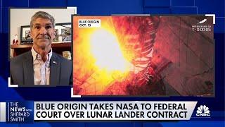 Blue Origin sues NASA over lunar lander contract