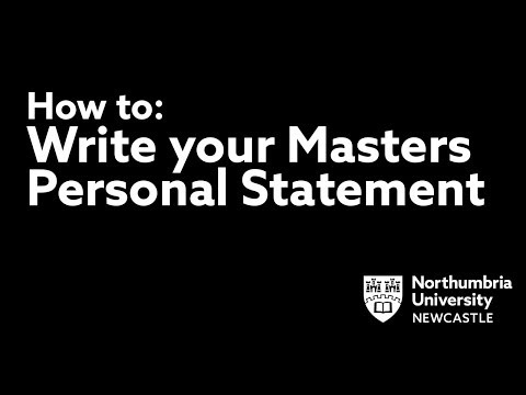 How to Write a Personal Statement for a Masters Course Application | Northumbria University