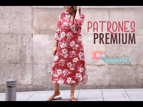 Vestido largo para mujer tipo túnica (tallas 34-44)