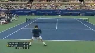 Federer vs Agassi 2005 US Open Final Part 1