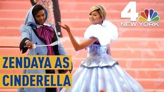 Met Gala 2019: Zendaya's Electric Cinderella Look,  Complete with a Glass Slipper   NBC New York