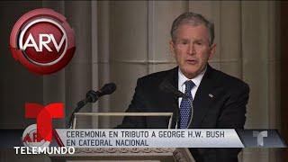 Así fue el emotivo funeral de George H.W. Bush | Al Rojo Vivo | Telemundo