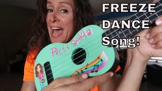 Freeze Dance Song on the Ukulele STOP by Patty Shukla