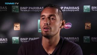 "Nick Kyrgios ""Really Proud"" Of 4R Win"