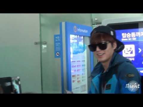 Lee Min Ho 20140206 Incheon Airport 뉴질랜드 출국