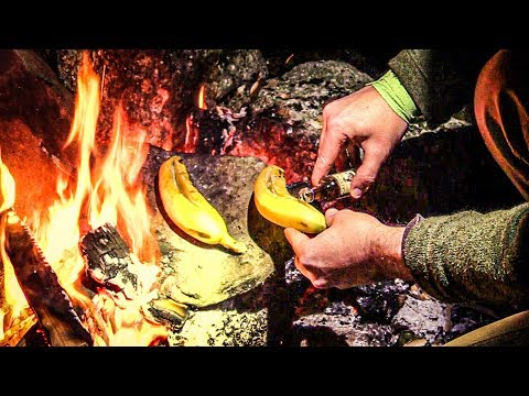 Bushcraft Recipe - Maple Rum Bananas | Backcountry Cooking