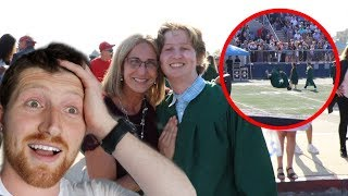 HE DID A BACKFLIP AT HIS HIGHSCHOOL GRADUATION!!