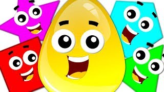 Learn Colors & Shapes with Crazy Eggs | Preschool Learning Videos for Children