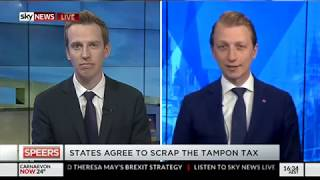 Senator Paterson joined Sky News to talk tampon tax, ABC accountability, and other topics