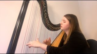Billie Eilish & Khalid - Lovely (Harp Cover by Arianna Worthen)