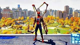 SPIDER MAN PS4 Iron Spider Suit Free Roam Gameplay (SPIDERMAN PS4)