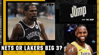 Do the Nets or Lakers have a better Big 3? | The Jump