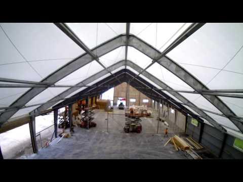 Britespan Distribution Facility 80' x 200' Rigid Beam Building Series