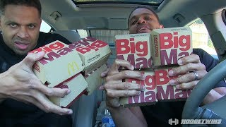 Mc Donalds Big Mac Eating Challenge @hodgetwins