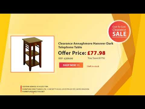 Cost to Cost Clearance Furniture Sale