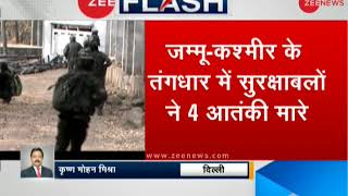 Breaking News: 4 terrorists killed in a gunfight on the LoC after an infiltration attempt foiled
