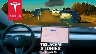 TESLA AUTOPILOT PREDICTS CRASH COMPILATION | TESLACAM STORIES #16