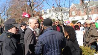 Ethiopians demonstrated in front of  Swiss Embassy in Washington DC