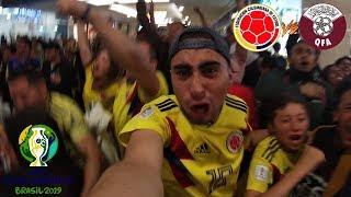 REACCIONES DE UN HINCHA Colombia VS Qatar 1-0 QUE PAR1DERA!! en COPA AMÉRICA 2019 [LA MEJOR CRÓNICA]