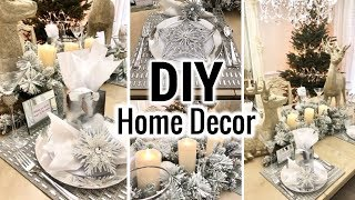 Dollar Tree DIY Glam Dining Room Makeover! | Dollar Tree DIY Christmas Decorate With Me