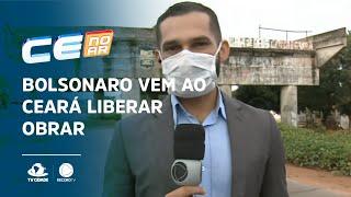 Bolsonaro vem ao Ceará liberar obrar, mas Camilo não vai encontrá-lo