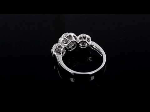 Browns Family Jewellers White Gold And Diamond Cluster Ring