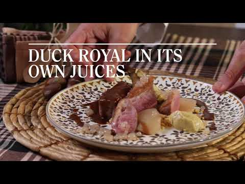 """Duck Royal and breast in its own juices"" Recipe by Mario Chinchilla. Gastronomic Hotel Can Cuch"