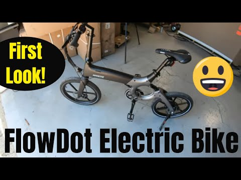 Flowdot First Look!  Compact Electric Bike Review