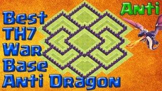 Best TH7 War Base Anti Dragon 2016