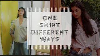 #fashionvideo HOW TO Style a WHITE SHIRT under 2 MINUTES|ONE PIECE MANY WAYS|Deepika Negi