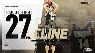 Purdue's Ryan Cline lit up Tennessee for 27 points in the Sweet 16