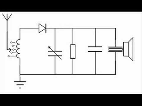 circuit diagram for cystal radio in a box youtube. Black Bedroom Furniture Sets. Home Design Ideas