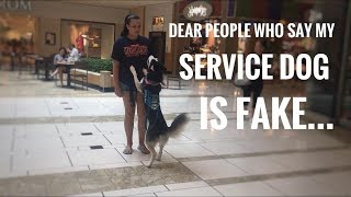 Someone told me to fake my service dog!?