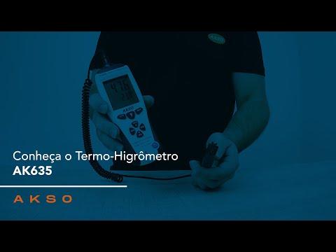 Conheça o Termo-Higrômetro AK635