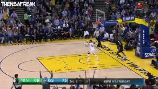 Stephen Curry Dunk vs Timberwolves