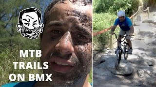 Will a BMX work on mountain bike trails? Sorta.